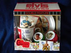 "ELVIS PRESLEY ""ELVIS AT THE MOVIE"" GIFT BOX!!! MUG/PLATE/2 ORNAMENTS/HOT COCOA!!"