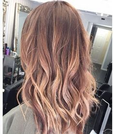 Image result for rose gold on highlighted hair