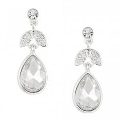 Jon Richard Navette Pave Crystal Teardrop Earring   code:JRER029438 Free UK Delivery when you spend £40.00 £10.00 (Delivery from £2.50)