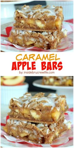 These easy spice bars are full of apples, walnuts, and caramel. Perfect with a scoop of ice cream too!