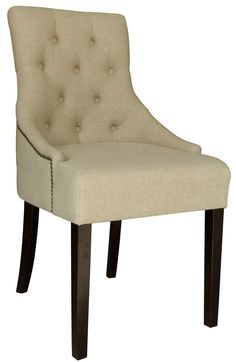 Set Of 2 Linen Fabric Accent Chair With Stud Detail