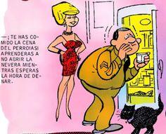 Cenando - Chistes de tebeos Comic Books, Comics, Cover, Jokes, Cartoons, Cartoons, Comic, Comic Book, Comics And Cartoons