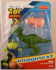 Imaginext Disney Pixar Toy Story 3 Rex with Hamm and Alien by Fisher Price