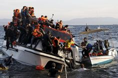 Lucky to be alive: There were no casualties among the refugees who were travelling on the catamaran, according to witnesses