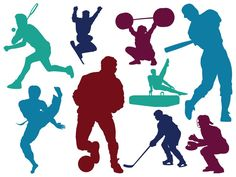 Colorful Sports Decal Collection