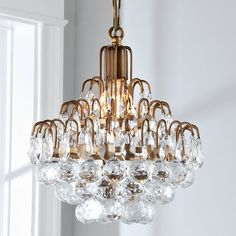 Cascading Crystal Orbs Mini Chandelier