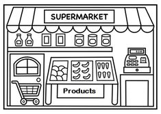 Read moreShopping At Supermarket Coloring Page For Kids Quote Coloring Pages, Bear Coloring Pages, Easter Coloring Pages, Colouring, Fathers Day Coloring Page, Valentines Day Coloring Page, Coloring Games For Kids, Preschool Coloring Pages, Kids Grocery Store