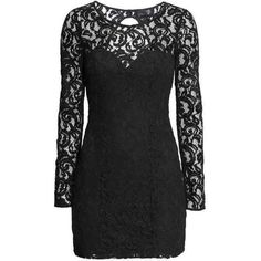Lace dress H&M We Heart It ❤ liked on Polyvore featuring dresses, h&m dresses, lacy dress, h&m, lace dress and heart shaped dress