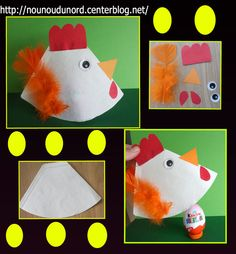 4 Kids, Easter Crafts, Spring, Chicken, Creative, Coqs, Animals, School, Coffee Filters