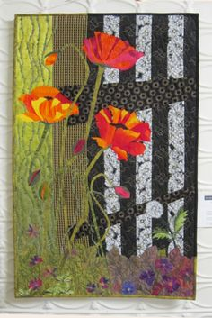 The Intruder a 35 inch by 22 3/4 art quilt by BSLArtQuilts on Etsy