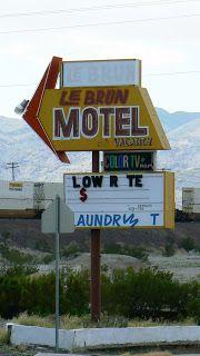 LeBrun Motel, Route 66 - Barstow, California