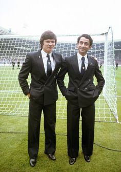 Tottenham's Steve Perryman & Ossie Ardiles before the 1981 FA Cup final against Manchester City