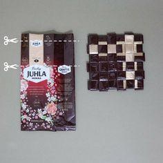 Juhla Mokka äitienpäivä 2019 ketjukuvio Candy Wrappers, Coffee Bags, Crafts, Diy, Instagram, Decor, Candy Cards, Coffee Sacks, Do It Yourself