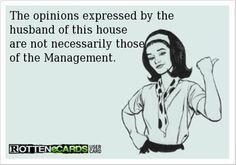 Same said for the bf of the house haha.