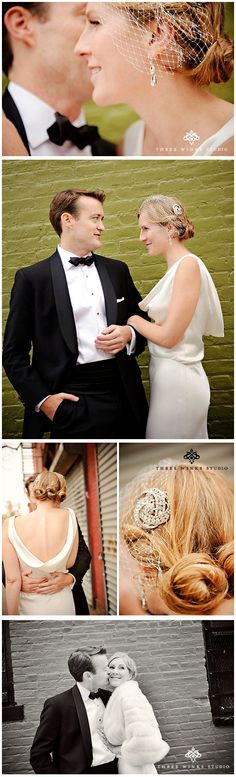 A 1930s wedding via @Lovely Bridal. Photos by Three Winks Photography.