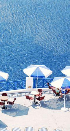 Santorini the Blue Aegean Sea