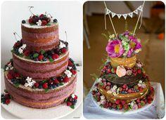 Flores y frutas #cake #naked