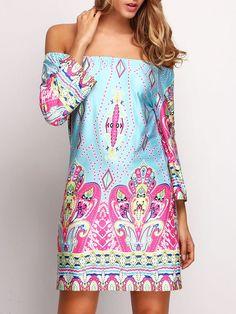 Collective Bardot Paisley Print Dress $14 #boho #afflink