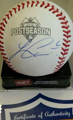 Kansas City Royals Autographed Lorenzo Cain '15 OML Postseason Ball COA
