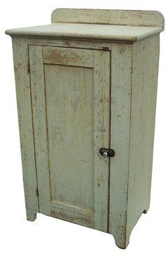 Mid 19th century Pennsylvania one door Milk Cupboard