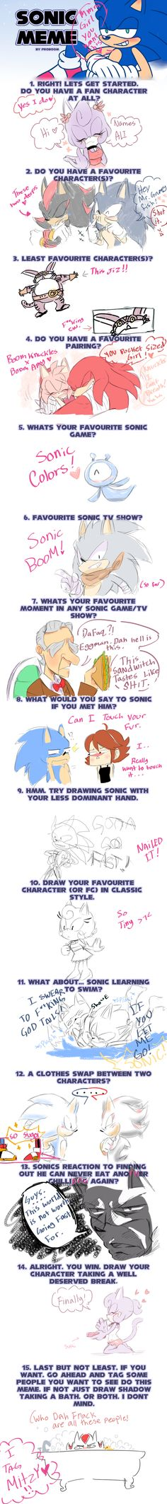 Sonic Meme! by kirei-naa on DeviantArt. I must find this person. SHE LIKES SONIC COLOURS XD