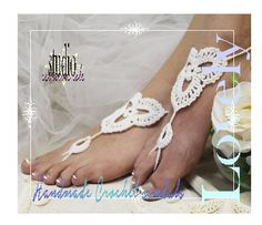 crochet barefoot sandals | boho beach wedding sandals | handmade barefoot sandals