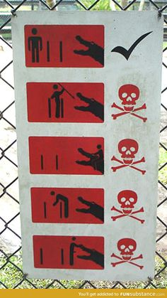 This crocodile warning sign is too specific