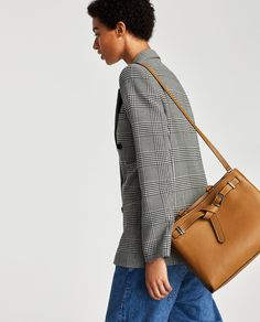 Leather City Bag With Knotted Detail from zara - USD Zara Official Website, City Bag, Zara United States, Bag Sale, Louis Vuitton Speedy Bag, Clothes For Women, My Style, Shopping, Zara Fashion