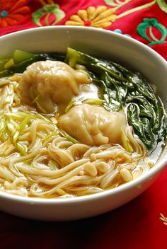 Simple Wonton Noodle Soup--Comfort in a dish. Add some chili oil or chili-garlic oil drizzled on top.