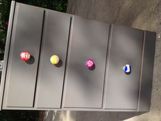 My idea! Paint ceramic drawer pulls with sharpie, the way you would a mug and…
