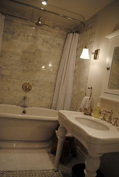 Lovely Small Bath re-do, love The tub