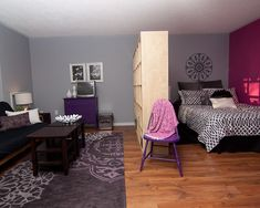 Eclectic Bedroom Corner Small Bedroom Divider Design, Pictures, Remodel, Decor and Ideas - page 6