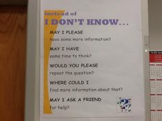 """5 Better Ways to Say 'I Don't Know' in the Classroom  Do you allow students to answer a question with the response """"I don't know"""" in the classroom? Perhaps you should consider no longer allowing that phrase and instead offering up these five other ways that might get students thinking a bit more."""