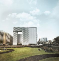 """1st Prize architectural competition """"Hotel and offices building Leuro 2"""". Lima. November 2013, allende arquitectos."""