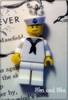 US Navy Lego Sailor necklace by Son and Sea FREE US by sonandsea, $18.00