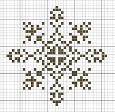 SNOWFLAKE PATTERN - cross stitch (chart only)