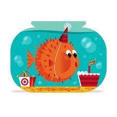 Invisible Creature Speaks » Blog Archive » Blowfish Birthday #blowfish #Puffer Fish #ILLUSTRATION