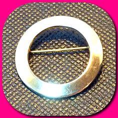 Vintage Gold-Tone Circle Pin Brooch