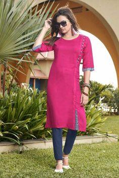 - Stunning Rayon Stylish in Pink With Dupatta Eid Dresses, Pakistani Dresses, Indian Dresses, Stylish Kurtis, Traditional Dresses, Party Dress, Cold Shoulder Dress, Lady, Pink