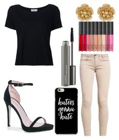 """Untitled #9843"" by ohnadine on Polyvore featuring GUESS, Boohoo, Frame, Miriam Haskell, MAC Cosmetics and NARS Cosmetics"