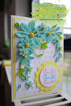 04.12.15 Smile  #Karte  #handgefertigt #handarbeit #Bastelkarten #basteln #Papierbasteln #Papierblumen #Craft #DIY #handmade #handmadegreeting #handmade_greeting   #Papercraft #paper #paperart #paperflowers   #Quilling #quillingcard #quillingkarten #shaker_card #quillingbox #카드 #만들기 #스탬프 #아트 #퀼링 #수제카드 #종이감기