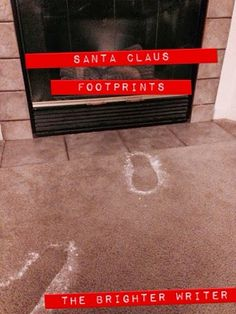How to make Santa Claus footprints for your Elf on the Shelf arrival. www.thebrighterwriter.blogspot.com