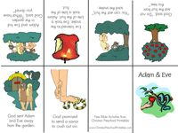 Adam & Eve printables - I printed out an extra minibook on photo paper and cut out the images to use as sequencing cards