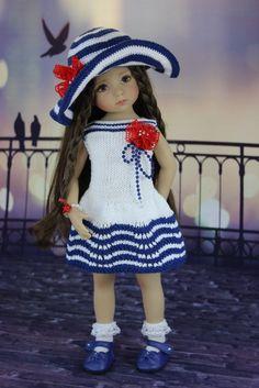 """Наряд """" Полосатый"""" . Куклы Дианы Эффнер. / Одежда для кукол / Шопик. Продать купить куклу / Бэйбики. Куклы фото. Одежда для кукол"""