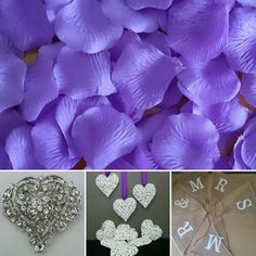 Vintage Styling with Purple SILK fabric ROSE petals from bridal.table.veil