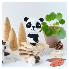 Gigi the little panda. Knitting pattern
