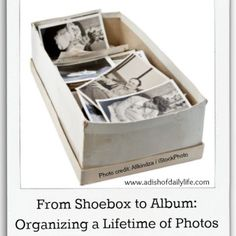 Organizing a lifetime of photos can be daunting,, but by breaking it down into manageable steps, you can organize your photos & tell your family stories.