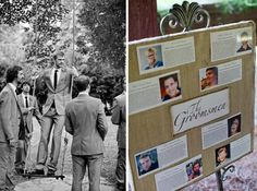 cute idea, to include a small storyboard about the groomsmen and bridesmaids