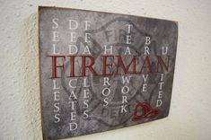 Fireman Sign Fireman Decor Firefighter Sign by Herosigns on Etsy. They can still be fearful Firefighter Home Decor, Firefighter Family, Firefighter Quotes, Firefighter Gifts, Volunteer Firefighter, Firefighters Wife, Firefighter Academy, Firefighter Boyfriend, Firefighter Apparel