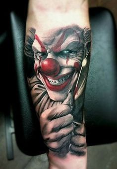 30 Terrifying Clown Tattoo Designs | Amazing Tattoo Ideas